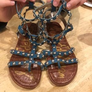 Sam Edelman blue studded Gladiator sandals sz 9